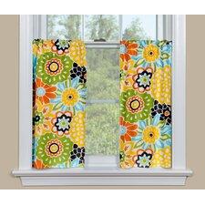 Button Blooms Confetti Tier Curtain (Set of 2)