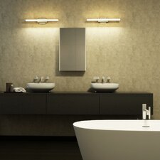 "Procyon 23"" LED Low Profile Bathroom Lighting Fixture in Satin Nickel"