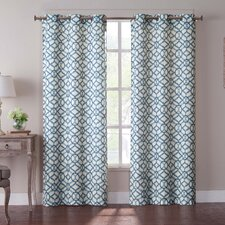 Tanjiers Grommet Curtain Panel (Set of 2)