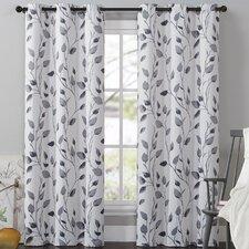 Leaf Drape Single Curtain Panel
