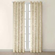Figaro Silk Grommet Window Single Curtain Panel