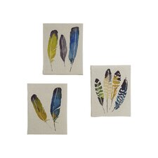 """In The Wind"" by Megan Swartz 3 Piece Painting Print Set on Canvas"