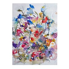 Vibrant Garden Painting Print on Canvas