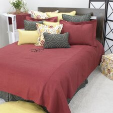Linen Circa Solid Lava Corded King Coverlet