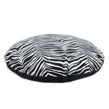 Zebra Simply Soft Round Dog Pillow