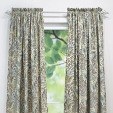 Paisley Natural Single Curtain Panel