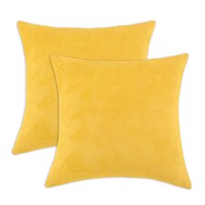 Passion Suede KE Suede Throw Pillow (Set of 2)