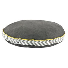 Round Dog Bed with Zig Zag Band and Top Cording