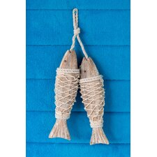 Handcrafted Hanging Fish in Net Wall Décor