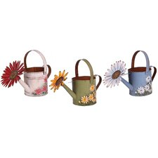 Spring Watering Can Wall Décor (Set of 3)