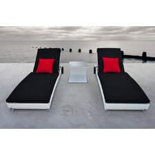 Zori 3 Piece Chaise Lounge Set with Cushions (Set of 3)