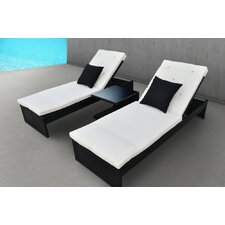 Plenus 3 Piece Chaise Lounge with Cushion