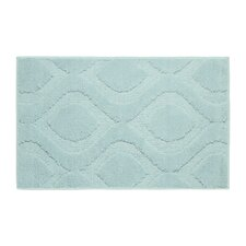 Mia Plush Micropolyester Textured Bath Mat