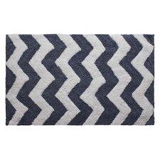Zigzag Reversible Cotton Plush Bath Mat