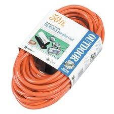 Coleman Cable - Tri-Source Vinyl Multiple Outlet Cords 50' Tri-Source Fluor.Green Low Temp Ext Cord 12: 172-04188 - 50' tri-source fluor.green low temp ext cord 12