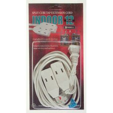 Split Cube Tap Extension Cord