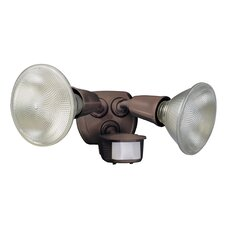 2 Light Twin Head Motion Activated Flood Light