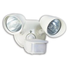 2 Light Twin Head Motion Activated Security Light