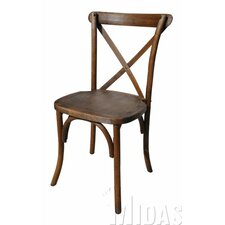 Forest Cross Back Weathered Style Chair