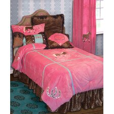Cowgirl Leopard Twin Comforter Collection