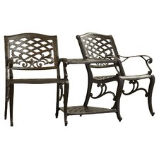 Labrie Cast Aluminum Seating Group Tete-a-Tete Bench Set