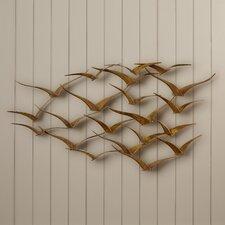 Beautiful Patterned Metal Flocking Birds Decor