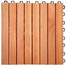 "Eucalyptus 12"" x 12"" Interlocking Deck Tile (Set of 10)"