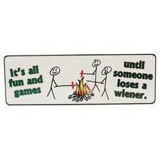 It's All Fun And Games Tin Sign Wall Décor