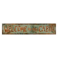 Welcome To The Cabin Sign Wall Décor