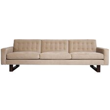 Miles Light Brown Tufted Sofa