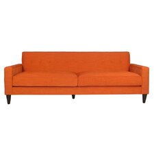 Bowie Orange Tufted Upholstered Sofa