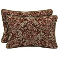 Venice Reversible Outdoor Lumbar Pillow (Set of 2)