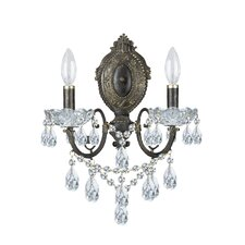 Winvian 2 Light Clear Crystal Wall Sconce