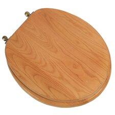 Designer Solid Oak Wood Round Toilet Seat