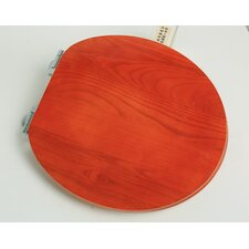 Contemporary Full Cover Solid Oak Wood Round Toilet Seat