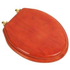 Designer Solid Oak Wood Elongated Toilet Seat