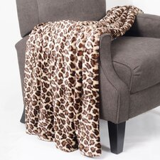 Leopard Double Sided Faux Fur Throw