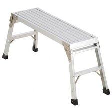 1-Step Aluminum Work Platform Step Stool with 225 lb. Load Capacity