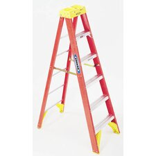 8 ft Fiberglass Step Ladder with 300 lb. Load Capacity