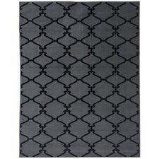 Clifton Moroccan Trellis Dark Grey Area Rug
