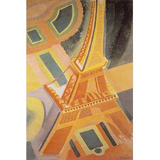 'Eiffel Tower Travel' Vintage Advertisement on Wrapped Canvas