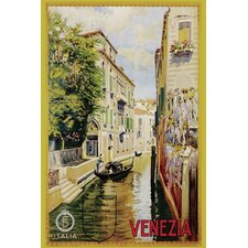 'Venzia Italia Travel' Vintage Advertisement on Wrapped Canvas