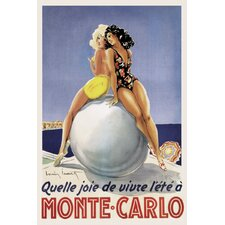 'Monte-Carlo Travel' Vintage Advertisement on Wrapped Canvas
