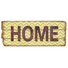 Rustic Home Chevron Wood Sign Wall Decor