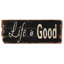 Rustic Life is Good Wood Sign Wall Decor