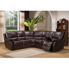 Burbank Leather Recliner Sectional