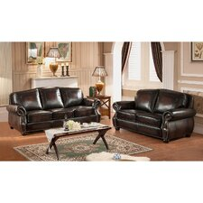 Vail Leather Sofa and Loveseat Set
