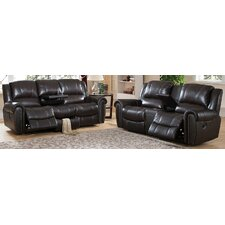 Charlotte Leather Recliner Sofa and Loveseat Set