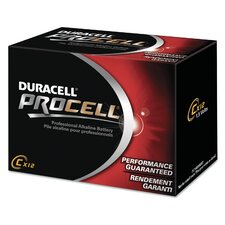 Procell Alkaline Battery, Size C, 12-Pack