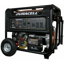 Duracell Powered Portable 7,800 Watt Gasoline Generator with Electric Start